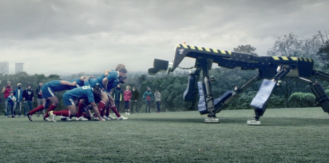 French rugby team tackle Thales scrum simulator in spectacular Adidas adverts!