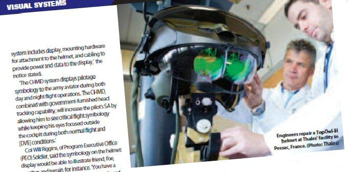 Defence Helicopter assessing helmet-mounted technology