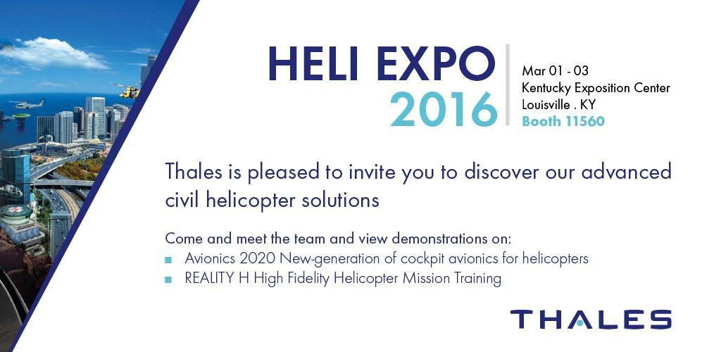 HELI EXPO 2016: Experience our immersive demonstrator!