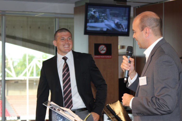Thales, L3COM and ACSS customer reception held at Stade Toulousain rugby stadium